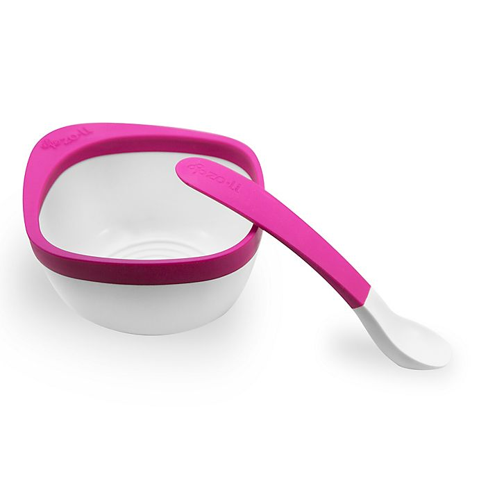 Alternate image 1 for Zoli MASH Bowl and Spoon Kit in Pink
