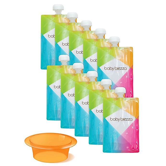Alternate image 1 for Baby Brezza® 10-Pack 7 oz. Easy Fill Reusable Food Pouches