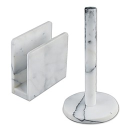 Artisanal Kitchen Supply® Marble Paper Towel Holder in White