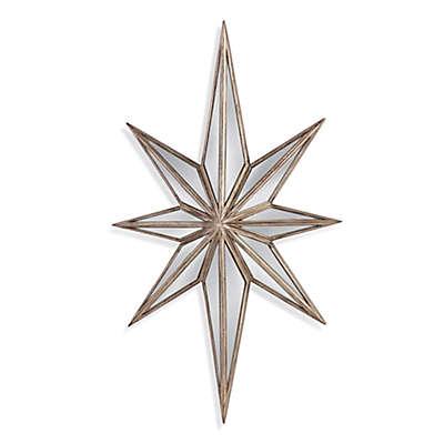 Bassett Mirror Company 16-Inch x 28-Inch Tiffin Wall Mirror in Silver Leaf