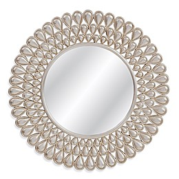 Basset Mirror Company Kaley 36-Inch Round Mirror in Silver Leaf