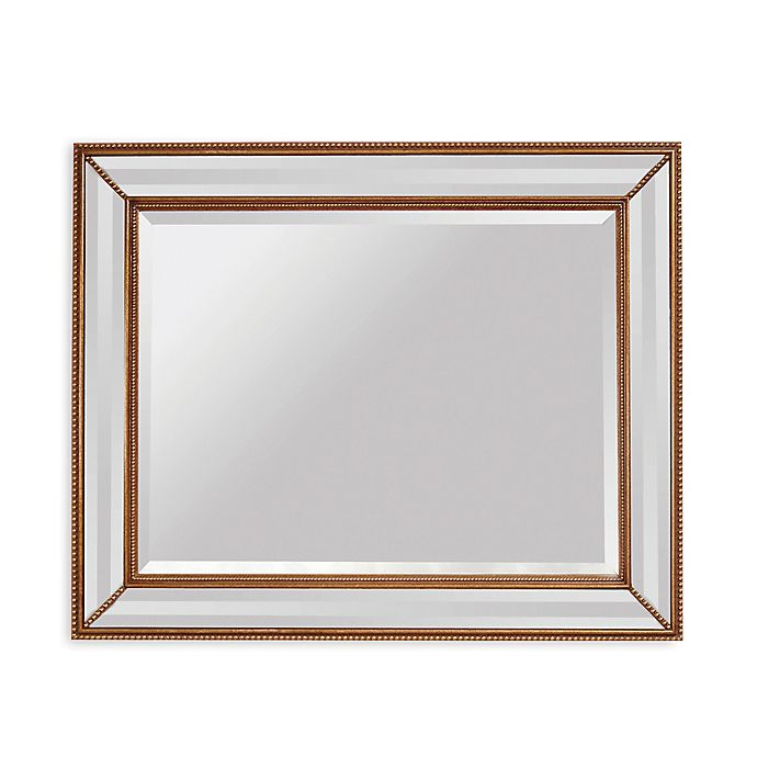 Alternate image 1 for Bassett Mirror Company Old World La Scala 40-Inch x 50-Inch Rectangular Wall Mirror in Antique Gold