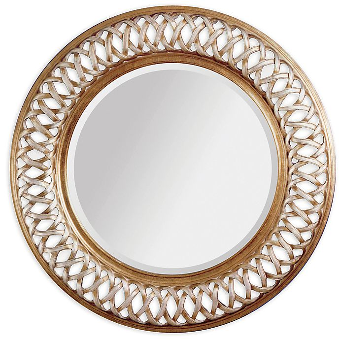 World Alissa 45 Inch Round Wall Mirror, Decorative Wall Mirrors Bed Bath And Beyond