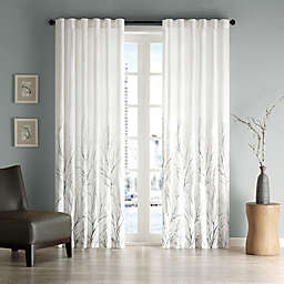 Madison Park Andora Rod Pocket/Back Tab Lined Window Curtain Panel and Valance