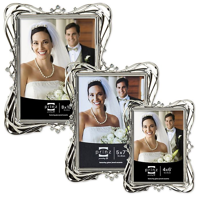 Alternate image 1 for Prinz Wedding Enchanted Silver Plated Picture Frame