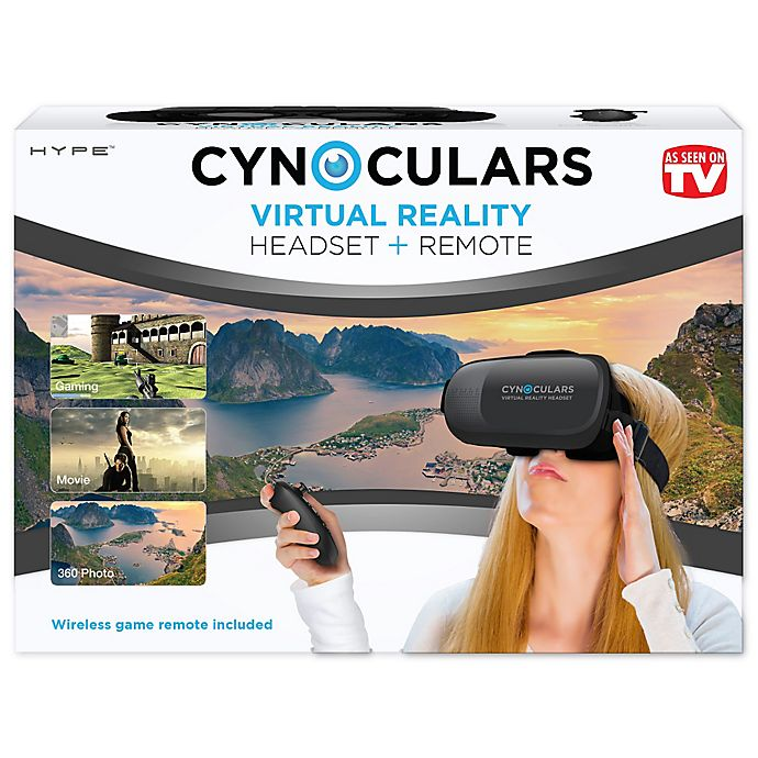 Alternate image 1 for Cynoculars Virtual Reality Headset and Remote