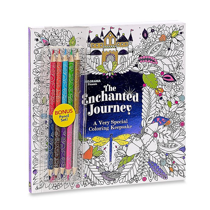 Colorama™ Enchanted Journey Coloring Book with Colored Pencils | Bed ...