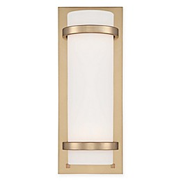 Minka Lavery® 2-Light Wall Sconce in Honey Gold with Etched Opal Glass Cylinder Shade