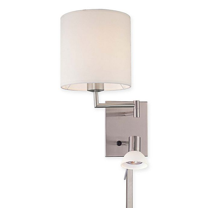 Alternate image 1 for George Kovacs® 1-Light Wall Sconce in Brushed Nickel with Glass Shade