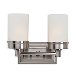 Bel Air Urban Swag 2-Light Wall Sconce in Brushed Nickel