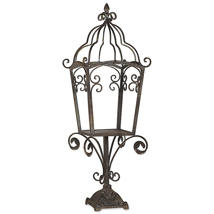 Bed Bath And Beyond Beaumont: A&B Home Beaumont Garden Pillar Candle Lamp In Green