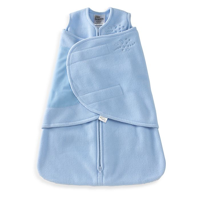 Alternate image 1 for HALO® SleepSack® Preemie Multi-Way Micro-Fleece Swaddle in Blue