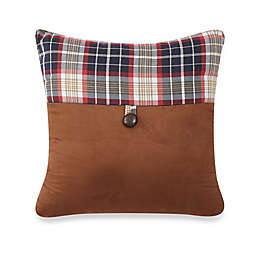 HiEnd Accents South Haven Plaid Envelope Square Throw Pillow in Red