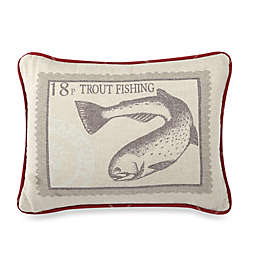 HiEnd Accents South Haven Trout Oblong Throw Pillow in White