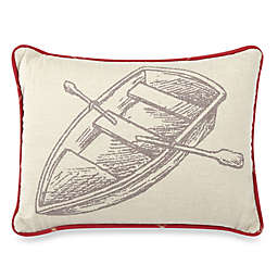 HiEnd Accents South Haven Rowboat Oblong Throw Pillow in White