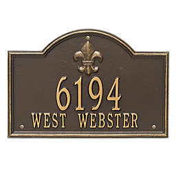 Whitehall Products Bayou Vista 2-Line Standard Wall Plaque in Bronze/Gold