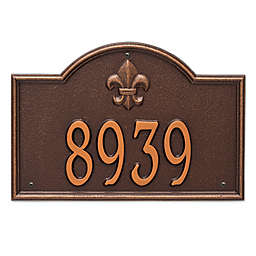 Whitehall Products Bayou Vista Standard 1-Line House Numbers Plaque in Antique Copper