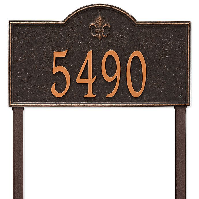 Alternate image 1 for Whitehall Products Bayou Vista Estate Lawn House Numbers Plaque in Oil Rubbed Bronze
