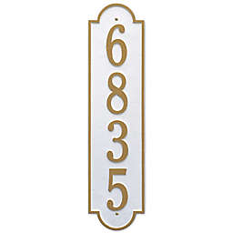 Whitehall Products Richmond Vertical Single Line Estate Plaque in White/Gold