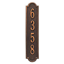 Whitehall Products Richmond 1-Line Vertical Wall Plaque in Oil Rubbed Bronze