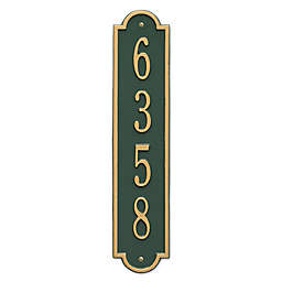 Whitehall Products Richmond 1-Line Vertical Wall Plaque in Green/Gold