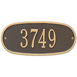 Whitehall Products Oval 1-Line Standard Wall Plaque in Bronze/Gold