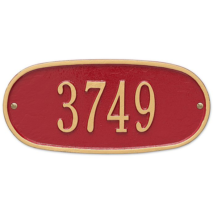 Alternate image 1 for Whitehall Products Oval 1-Line Standard Wall Plaque in Red/Gold