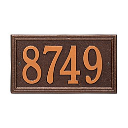 Whitehall Products Double Border 1-Line House Numbers Plaque