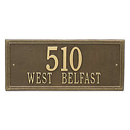 Whitehall Products Double Line 2-Line Estate Wall Plaque