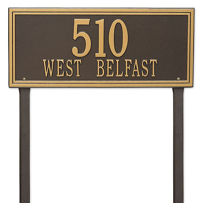 Alternate image 1 for Whitehall Products Double Line Estate Lawn Plaque in Bronze/Gold