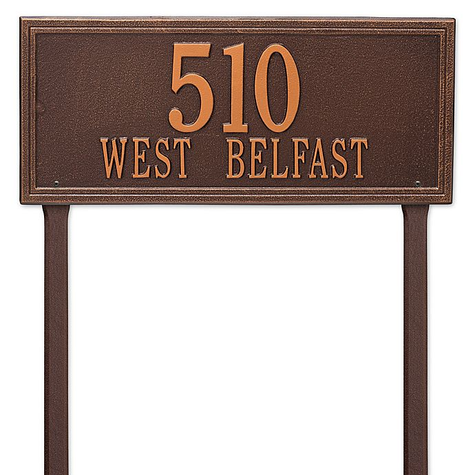 Alternate image 1 for Whitehall Products Double Line Estate Lawn Plaque in Antique Copper