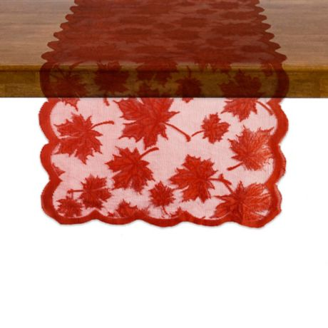 Buy Maple Leaf 72 Quot Round Table Runner In Spice From Bed