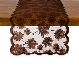 Maple Leaf Table Runner in Brown