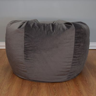 Extra Large Washed Velvet Bean Bag Chair Bed Bath Amp Beyond