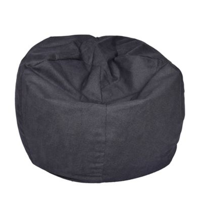 Extra Large Bean Bag Chair In Vintage Denim Bed Bath