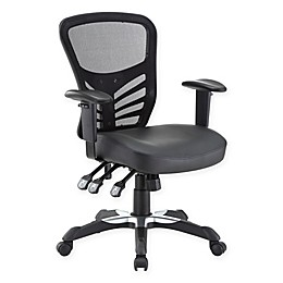 Modway Vinyl Office Chair in Black
