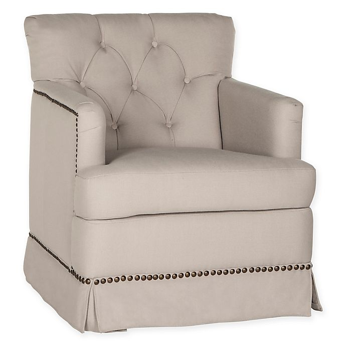 Alternate image 1 for Safavieh Millicent Swivel Accent Chair in Taupe