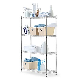 Commercial Grade 4-Tier Metal Shelving Unit
