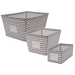 SALT™ Canvas Storage Bin with Chevron Print