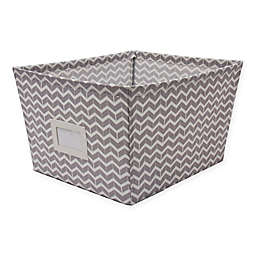 SALT™ Large Canvas Storage Bin with Chevron Print in Grey