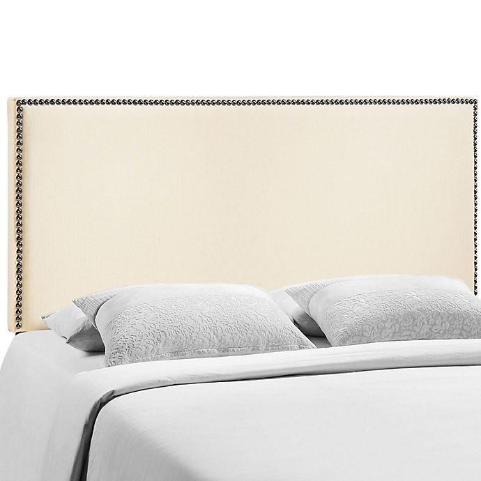 Alternate image 1 for Modway Region Nailhead Queen Headboard in Ivory