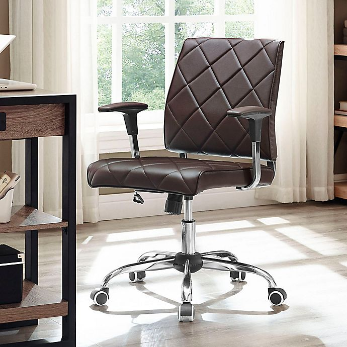 Modway Lattice Vinyl Office Chair Bed