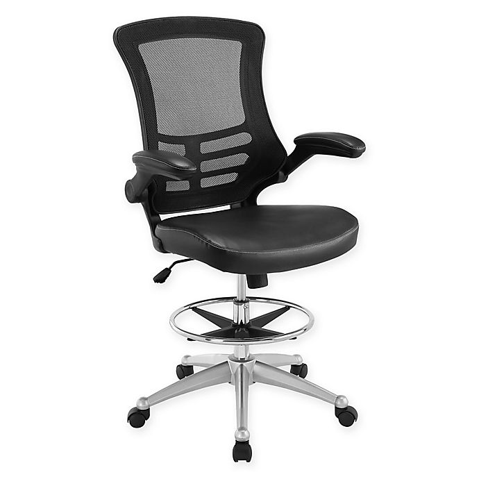 Alternate image 1 for Modway Attainment Drafting Stool in Black