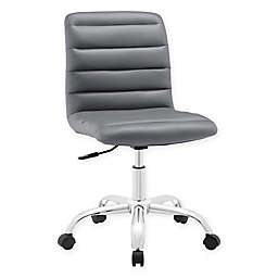 Modway Ripple Mid-Back Office Chair in Grey