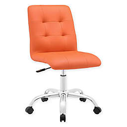 Modway Prim Armless Mid-Back Office Chair in Orange