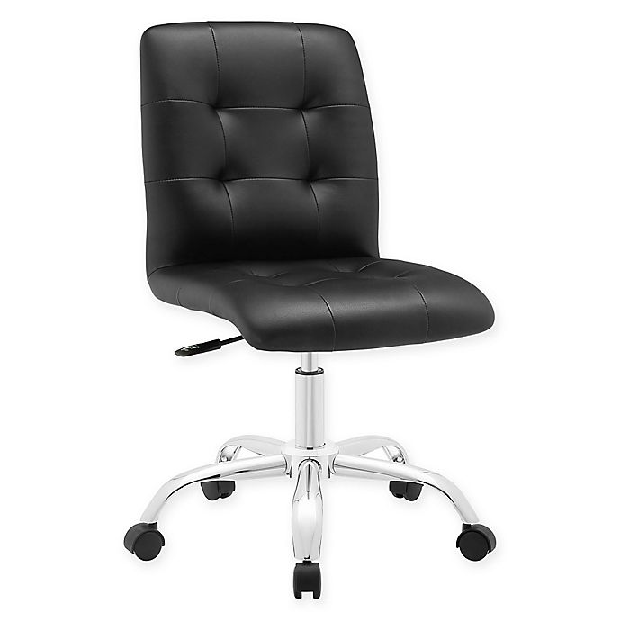 Alternate image 1 for Modway Prim Armless Mid-Back Office Chair in Black