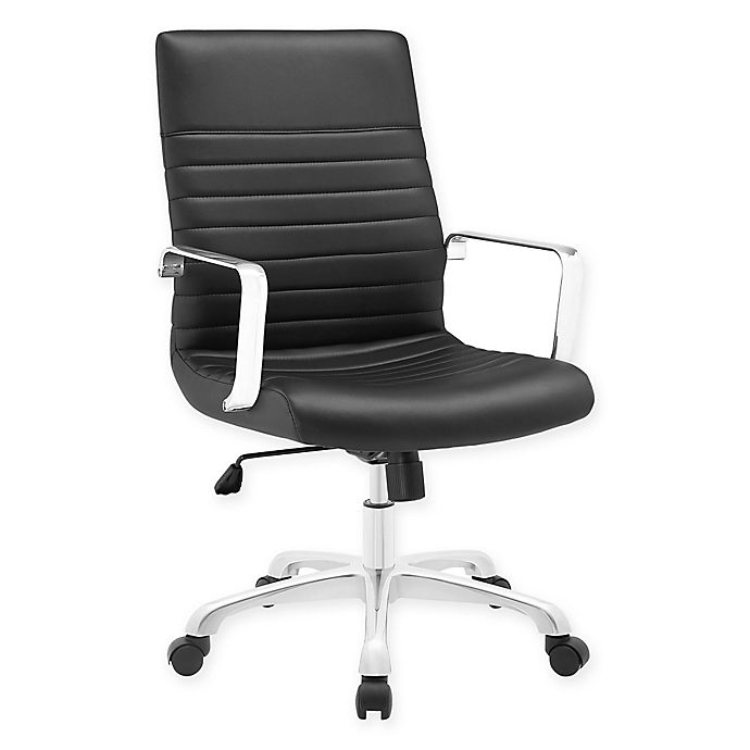 Alternate image 1 for Modway Finesse Mid-Back Office Chair in Black