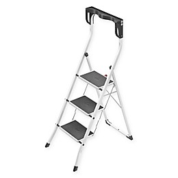 Hailo™ 3-Step Safety Plus Step Stool in White