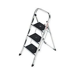 Hailo™ 3-Step Steel K30 Step Stool in Silver