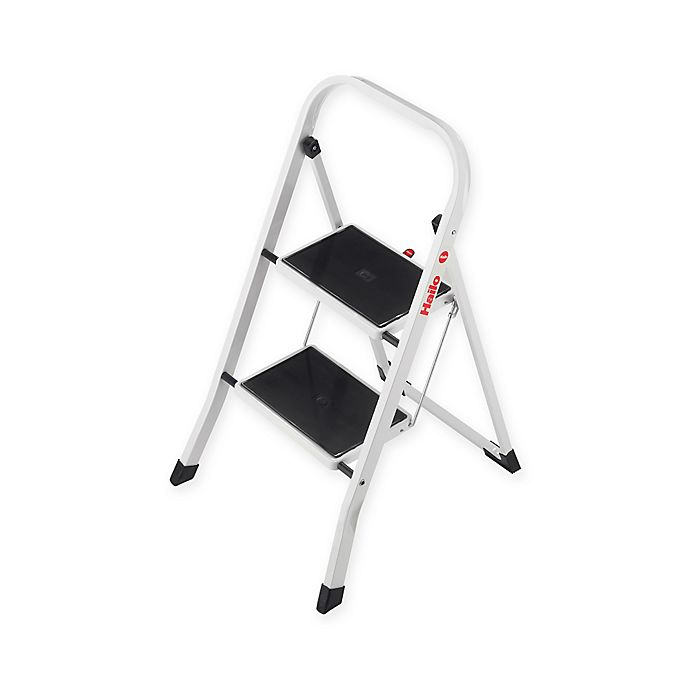 Cool Hailo 2 Step Steel K20 Step Stool In White Bed Bath Beyond Creativecarmelina Interior Chair Design Creativecarmelinacom